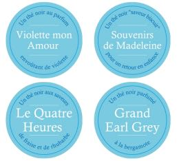 Lot de 4 Th�s en vrac Comptoir Fran�ais du Th� - Quatre Heures + Violette mon Amour + Souvenir de Madeleine + Grand Earl