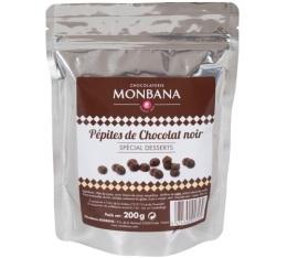P�pites de Chocolat Noir Sp�cial Dessert - 250 gr - Monbana