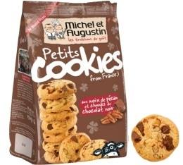 Petits cookies aux noix de pécan et chunks de chocolat noir - Michel et Augustin