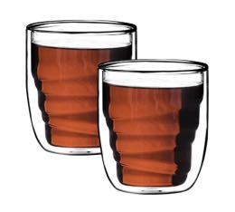 Set 2 verres Elements Bois double paroi 21cl - QDO