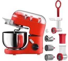 kit Robot de cuisine Bodum Bistro 11381-294 Rouge + hachoir + r�peuse