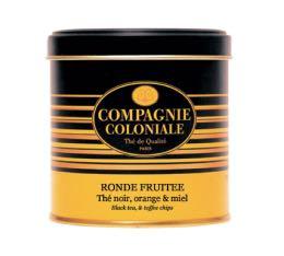 Boite Compagnie Coloniale Thé noir Ronde Fruitée - 150 gr