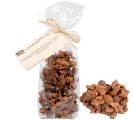 Pignons de pin et amandes torr�fi�s chocolat lait - Sachet 100g - La Pignotte�