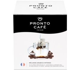 10 sachets de caf� - 100% Arabica Intenso - Pronto Caf�
