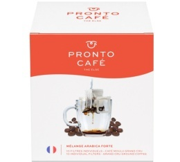 10 sachets de caf� - 100% Arabica Forte - Pronto Caf�