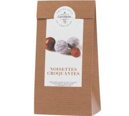 Sachet noisettes croquantes enrobées de chocolat au lait - 125gr - Café Tasse