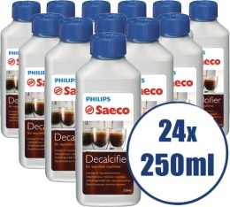 Lot de 24 D�tartrants Saeco pour machine expresso - 24 x 250ml