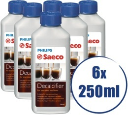 Lot de 6 D�tartrants Saeco CA6700 pour machine expresso - 6 x 250ml