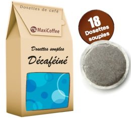 Café dosettes souples - Café décaféiné x18
