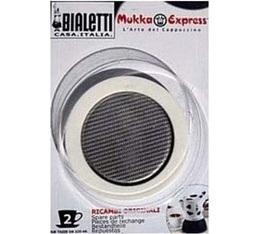 Set Bialetti 1 joint + 1 filtre pour Mukka Express 2 tasses