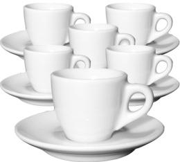 6 tasses expresso et sous-tasses porcelaine 5,5 cl Palermo - Ancap