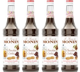 Sirop Monin - chocolate cookie - 4x70cl