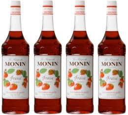 4 x Sirop Monin - Fraise - 1 l