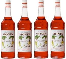 4 x Sirop Monin - Grenadine - 1 l