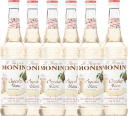 6 x Sirop Monin - Chocolat Blanc - 70cl