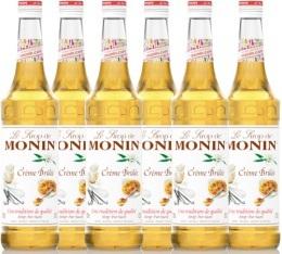 6 x Sirop Monin - Cr�me Br�l�e - 70 cl