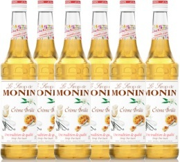 6 x Sirop Monin - Crème Brûlée - 70 cl