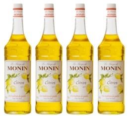 4 x Sirop Monin - Citron - 1 l