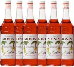 6 x Sirop Monin - Grenadine - 1 l