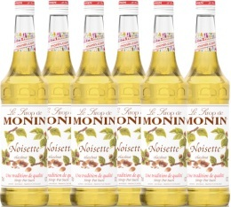 6 x Sirop Monin - noisette - 70cl