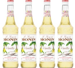 Sirop Monin - Vanille (french vanilla) - 4x70cl