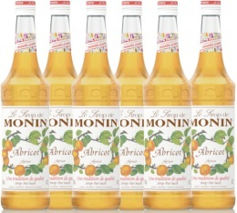 6 x Sirop Monin - Abricot - 70 cl
