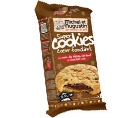 Super cookies coeur fondant chocolat noir /  Noix de pécan / Eclats de caramel (x6) - Michel et Augustin