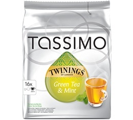 Dosette Tassimo Twinings Th� vert Menthe - 16 T-Discs