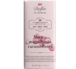 Chocolat Lait Noix de Macadamia Caram�lis�es - 70g - Dolfin