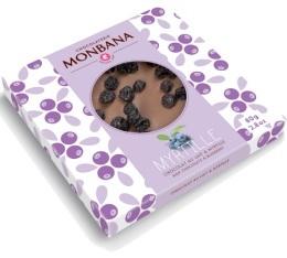 Tablette gourmande - Myrtille Chocolat au Lait - 80 gr - Monbana