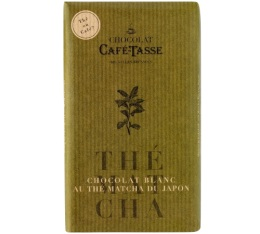Tablette chocolat blanc au th� Matcha - 85gr - Caf� Tasse