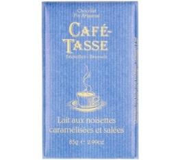Tablette chocolat au lait/noisettes caramélisées et salées - 85g - Café Tasse