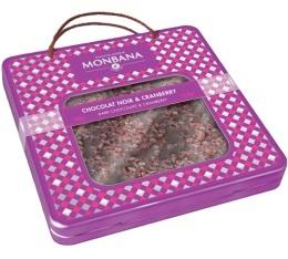Tablette gourmande - Cranberry Chocolat Noir (Valisette M�tal) - 350 gr - Monbana