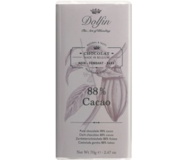 Chocolat noir 88% de cacao - 70g - Dolfin