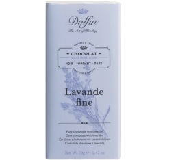 Chocolat noir (60% cacao) � la lavande fine - 70g - Dolfin