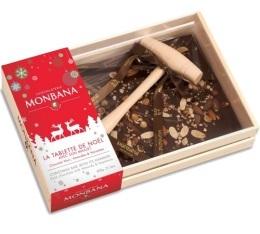 Tablette de Noël au chocolat noir (avec son maillet) - Monbana