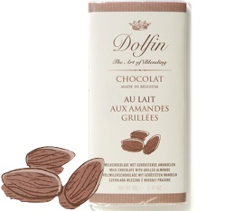 Chocolat au Lait et Amandes Grill�es - 70g- Dolfin