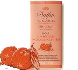 Chocolat Noir 60% avec Ecorces d'oranges confites - 70g- Dolfin