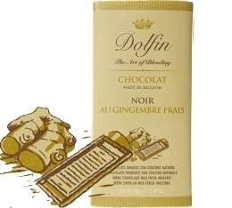 Chocolat Noir 60% au Gingembre frais - 70g- Dolfin