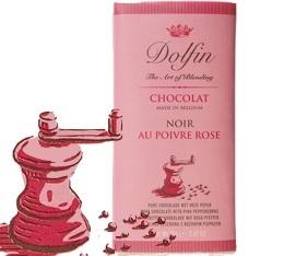 Chocolat Noir 60% au Poivre rose - 70g- Dolfin