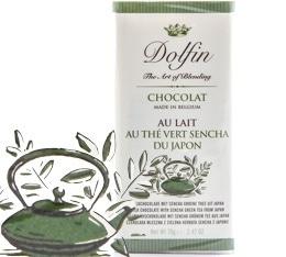 Chocolat au Lait Thé vert Sencha du Japon - 70g- Dolfin
