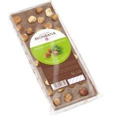 Tablette au chocolat au lait et noisette - 100gr - Monbana