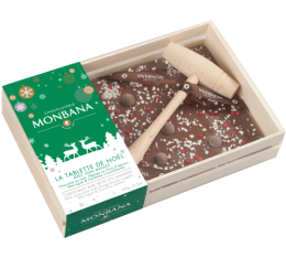 Tablette de Noël au chocolat au lait (avec son maillet) - Monbana