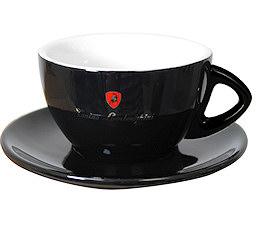 Tonino Lamborghini - 6 Tasses noires Latte avec sous tasses