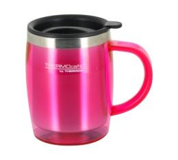 Travel Mug Double Paroi avec poign�e rose 45cl - THERMOcaf� by Thermos