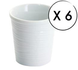 6 tasses à café espresso Plise'O 9cl