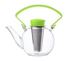 Théière Tea 4 U en verre 1L avec poignée verte QDO
