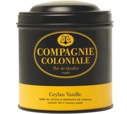 Boite Compagnie Coloniale Th� noir Vanille - 150 gr