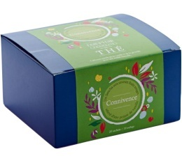 Bo�te 40 sachets - Th� vert Connivence - Comptoir Fran�ais du th�