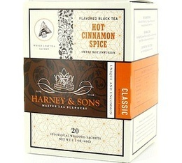 Th� Noir sachet Hot Cinnamon Spice 'cannelle' x 20 - Harney and Sons